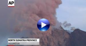 Indonesia's Mount Sinabung spews volcanic lava in fresh burst